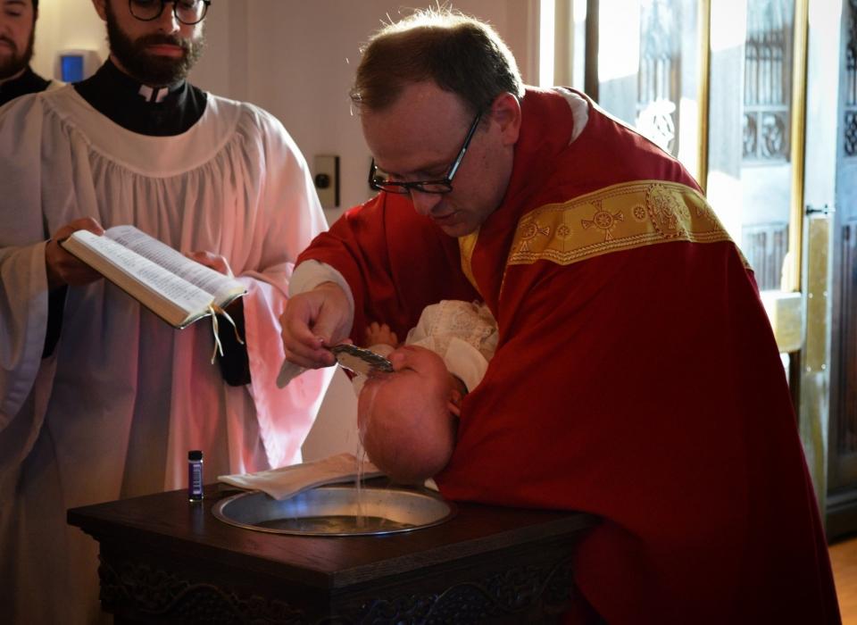 Baptism of Samuel James