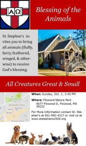 The Blessing of Animals @ Flowood Nature Park