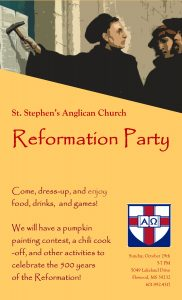 Reformation Party & Chili Cook-Off