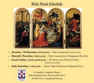 Monday before Easter - Holy Communion